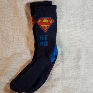Boys' Superman socks from DC Comics, size Large